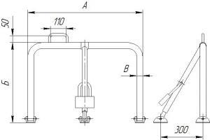 Чертеж барьера складского 1ГПО-Б1
