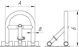 Чертеж барьера складского 1ГПО-Б4