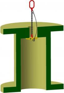 Захват для вертикального подъема барабана (цепной)