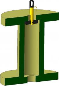 Захват для верткального подъема барабана (трубный)