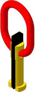 Захват для вертикального подъема барабана (клиновой)