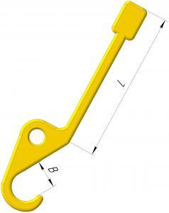 Крюк с противовесом для самоотцепления от груза при ослаблении стропа