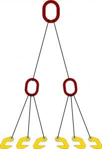 Строп шестиветвевой для одновременного подъема трех труб (с захватами 2СЭС7)