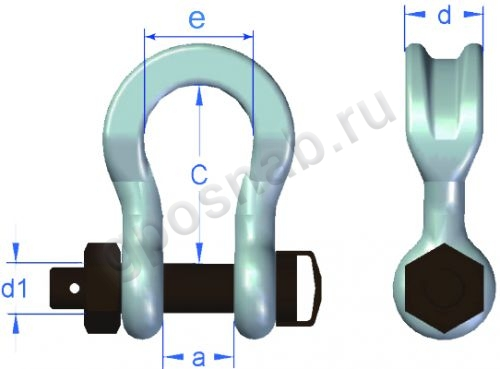 GUNNEBO WIDE BODY SLING SHACKLE 859