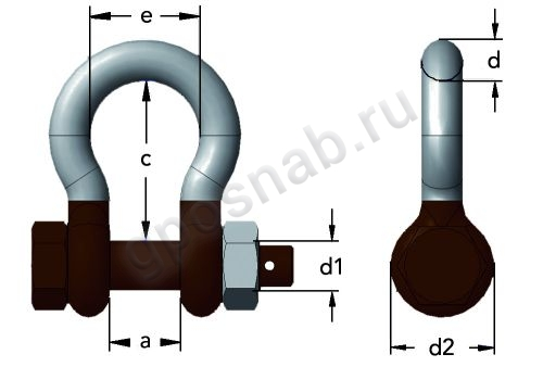 GUNNEBO ARTIC SHACKLE 856